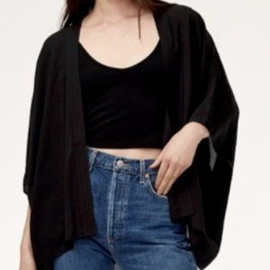 SUNDAY BEST Aritzia Black Cosima Kimono Blazer NEW